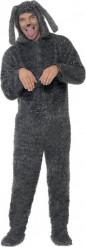 Hundekostüm für Erwachsene grau