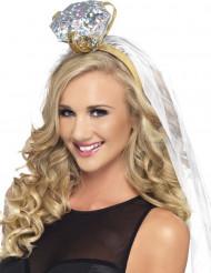 Brautschleier Haarreif mit Diamant