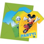 6 Einladungskarten Micky Maus Kickoff™
