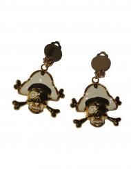 Goldene Piraten-Ohrringe für Erwachsene