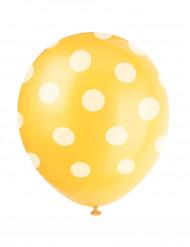 6 gelbe Luftballons