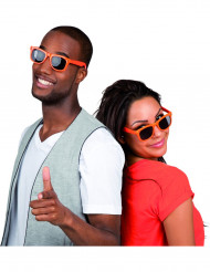 Orangefarbene Sonnenbrille für Erwachsene