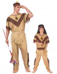 Indianerinnen-Paarkostüm für Vater-Sohn