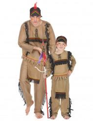 Paarkostüm Indianer für Vater und Kind