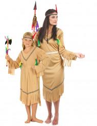 Indianerinnen-Paarkostüm für Mutter-Tochter