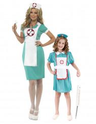 Krankenschwester-Paarkostüm Mutter-Kind