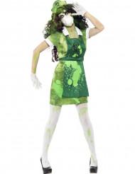 Halloween Zombie-Atomforscher Kostüm für Damen