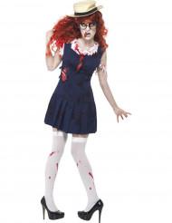 Zombie Schulmädchen Kostüm für Damen Halloween