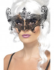 Schmetterling Maske mit schwarzem Strass für Erwachsene - Halloween