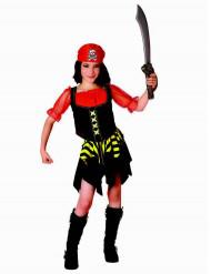 Piratenmädchen-Kinderkostüm bunt