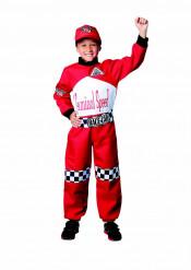 Rennfahrer Kinderkostüm für Jungen schwarz-weiss-rot