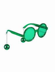 Witzige Disco Brille grün für Erwachsene