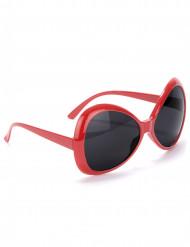 70er Disco Brille in rot für Erwachsene