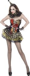 Zombie Clown Kostüm für Damen