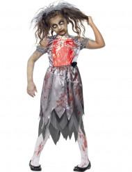 Zombie-Braut Halloween Kostüm für Mädchen