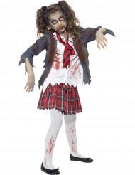 Halloween Zombie Schülerinnen-Verkleidung für Mädchen