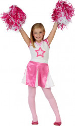 Rosa Cheerleaderin Kostüm für Mädchen