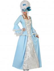 Blaues Barock-Prinzessin Kostüm für Damen