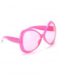 70er Disco Brille in rosa für Erwachsene