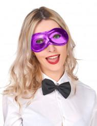 Karneval Augenmaske lila für Erwachsene
