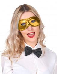 Karneval Augenmaske gold für Erwachsene