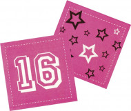 """12 """"16 Jahre"""" Papier Servietten"""