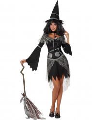 Halloween schwarze und graue Hexe Kostüm für Damen Halloween