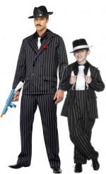 Gangster Paarkostüm Vater-Sohn