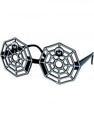 Halloween Spinnweben-Brille in Schwarz für Erwachsene