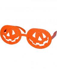 Halloween Kürbis-Brille in Orange für Erwachsene