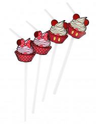 6 Minnie Maus™ Strohhalme