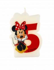 Minnie Mouse™ Kerze - Zahl 5