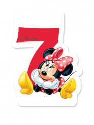 Minnie™ Kerze - Zahl 7