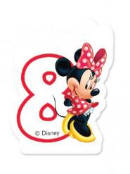 Minnie™ Kerze - Zahl 8