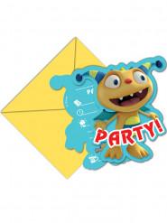6 Einladungskarten Henry Knuddelmonster™