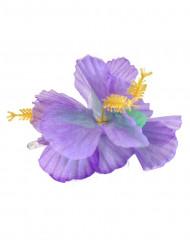 Haarklammer Hawaii mit lila Blumen