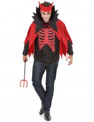 Teufels-Kostüm rot für Herren Halloween