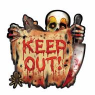 Totenkopf Türschild - Halloween