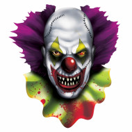 Halloween-Clown zum Ausschneiden