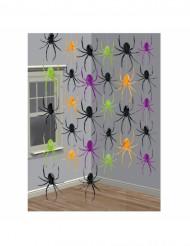 6 Spinnen-Hängegirlanden