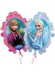 Aluminium Luftballon Die Eiskönigin™ hellblau pink