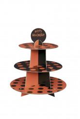 Muffin Turm mit Happy Halloween Muster