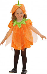 Kürbis-Kostüm mit Pailletten Halloweenfür Kinder
