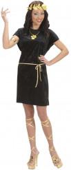 Schwarzes Römerinnen-Kostüm für Frauen