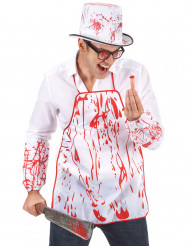 Blutige Schürze für Erwachsene Halloween