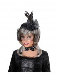 Mini Hexen Hut mit Schleier Halloween für Damen