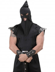 Schwarze Henkers-Kapuze für Erwachsene Halloween