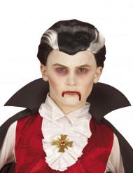 Zweifarbige Vampir-Perücke für Kinder Halloween