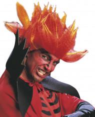 Perücke verrückter Teufel Orange für Erwachsene Halloween