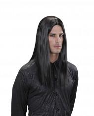 Schwarze Vampir Perücke Erwachsene Halloween